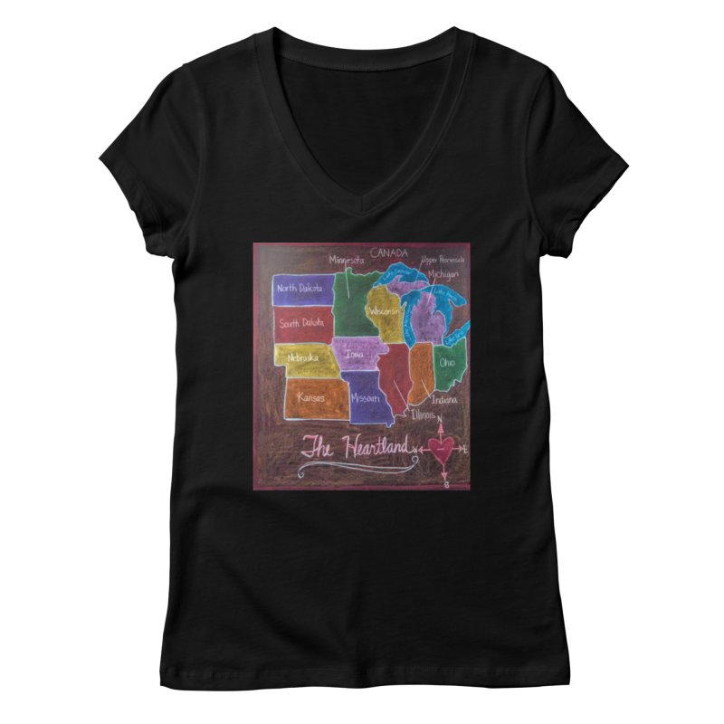 The Heartland Women's V-Neck by brusling's Artist Shop