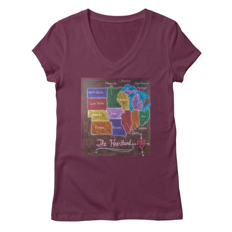 The Heartland Women's V-Neck by brusling's Artist Shop