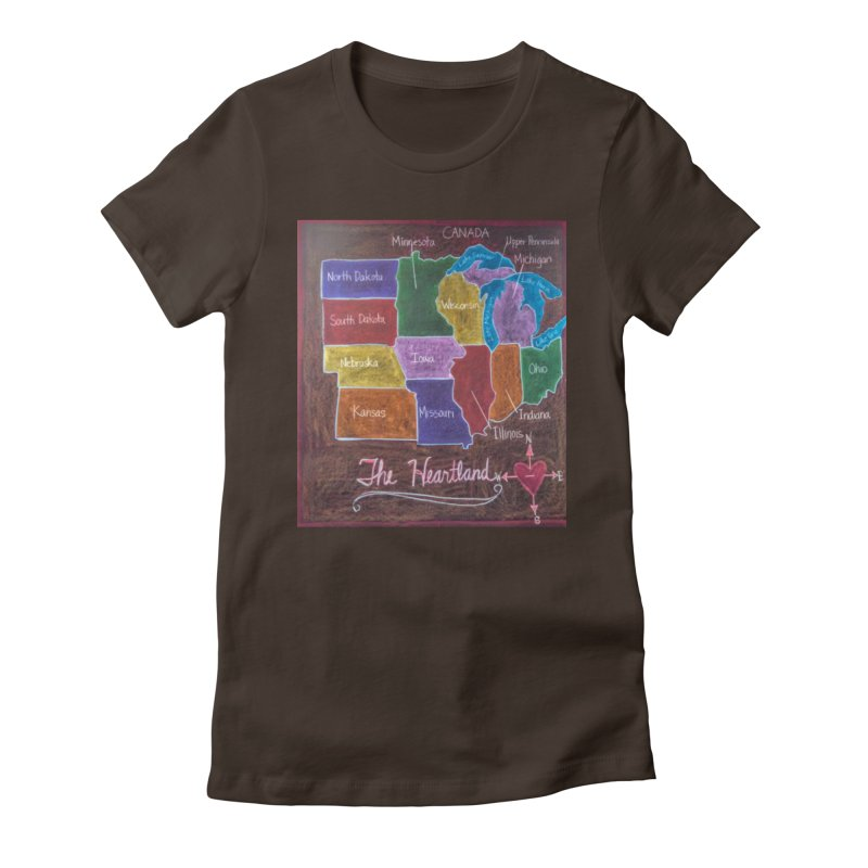 The Heartland Women's Fitted T-Shirt by brusling's Artist Shop