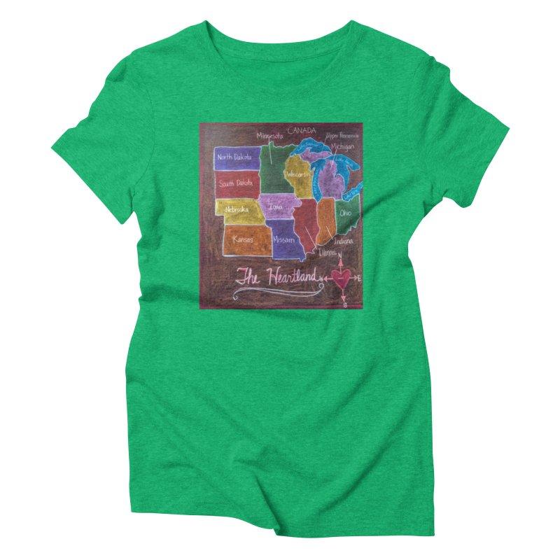 The Heartland Women's Triblend T-shirt by brusling's Artist Shop