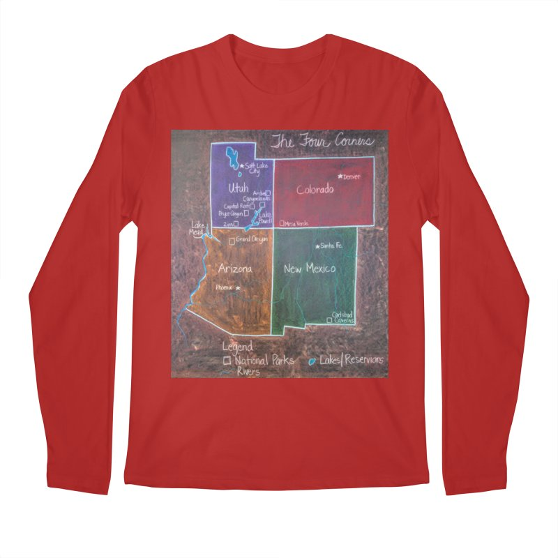 Four Corners Men's Longsleeve T-Shirt by brusling's Artist Shop