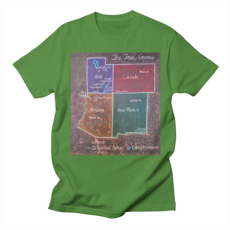 Four Corners Men's T-Shirt by brusling's Artist Shop