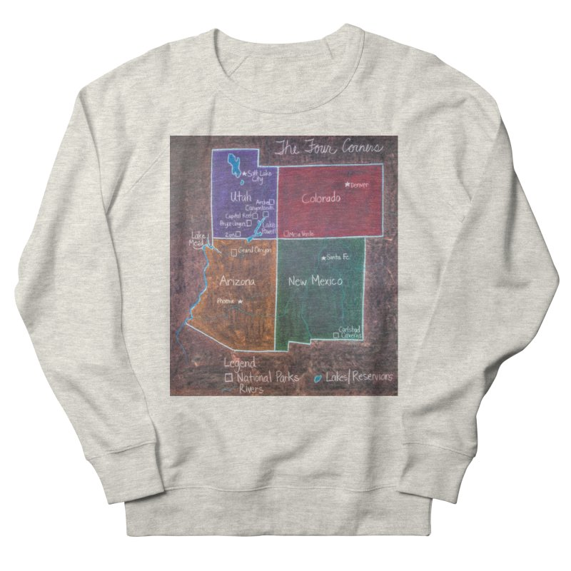 Four Corners Men's Sweatshirt by brusling's Artist Shop