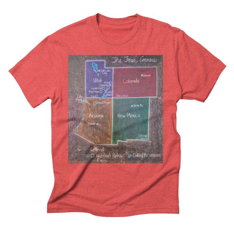 Four Corners Men's Triblend T-Shirt by brusling's Artist Shop