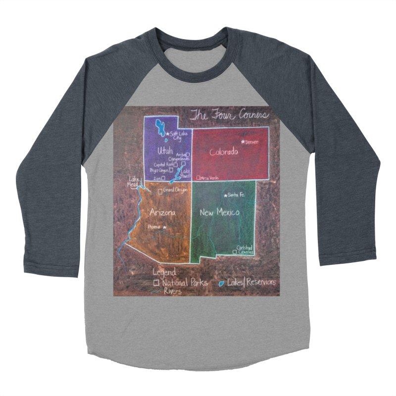 Four Corners Women's Baseball Triblend T-Shirt by brusling's Artist Shop