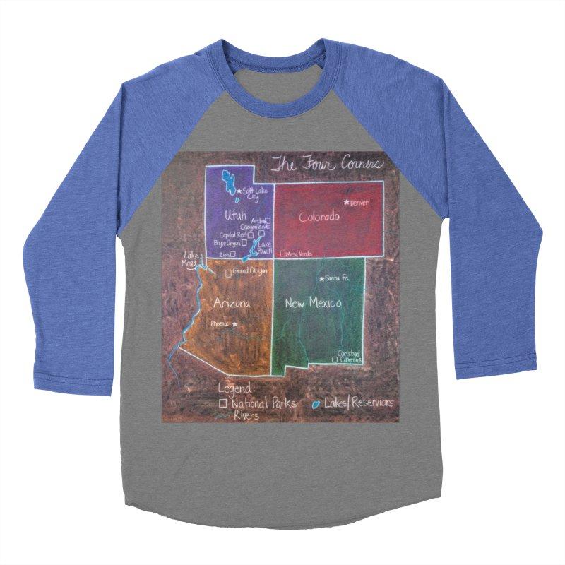 Four Corners Men's Baseball Triblend T-Shirt by brusling's Artist Shop