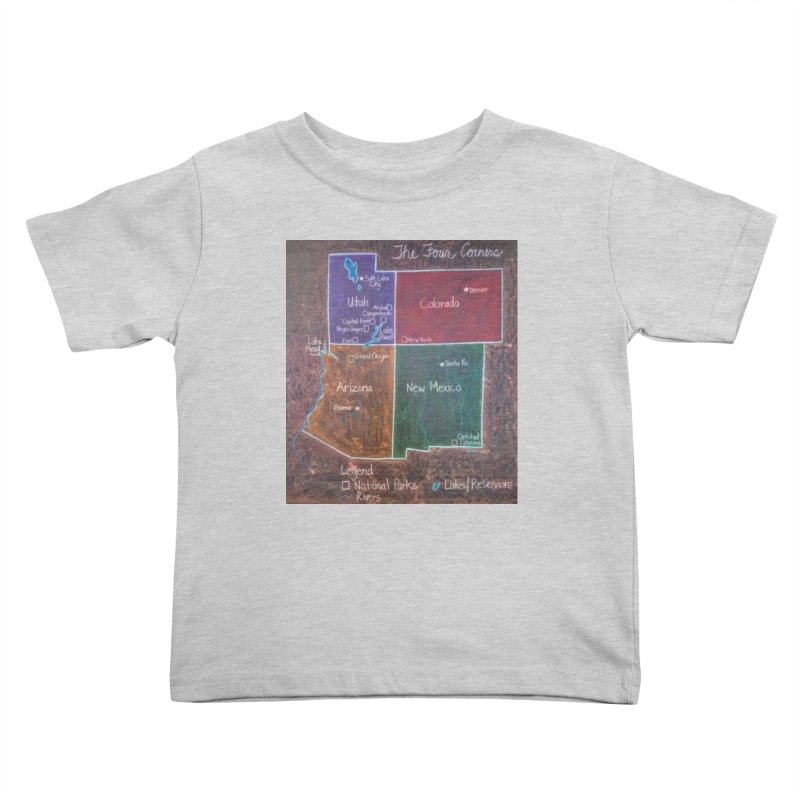 Four Corners Kids Toddler T-Shirt by brusling's Artist Shop