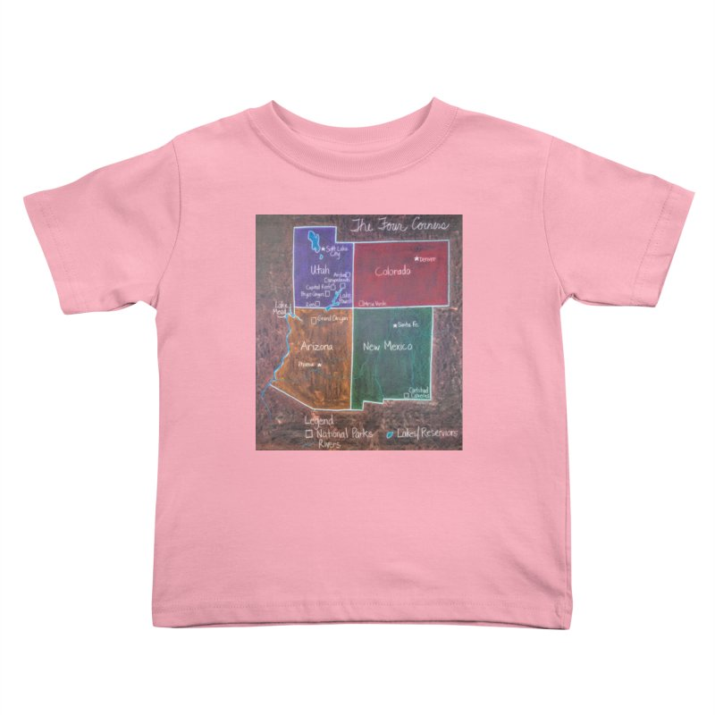 Four Corners Kids Toddler T-Shirt by brusling's Artist Shop