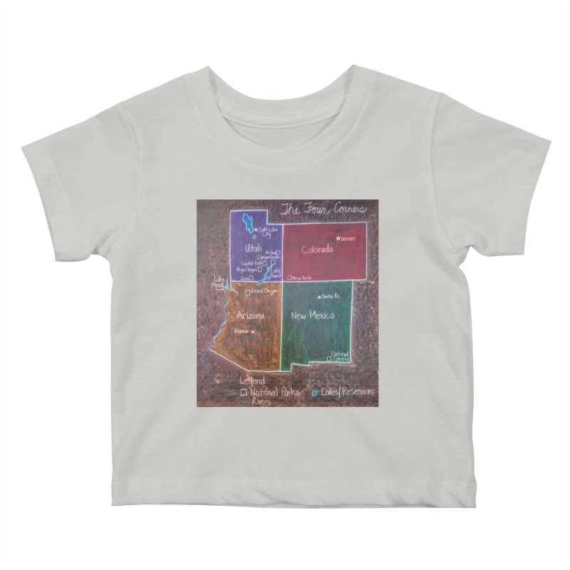 Four Corners Kids Baby T-Shirt by brusling's Artist Shop