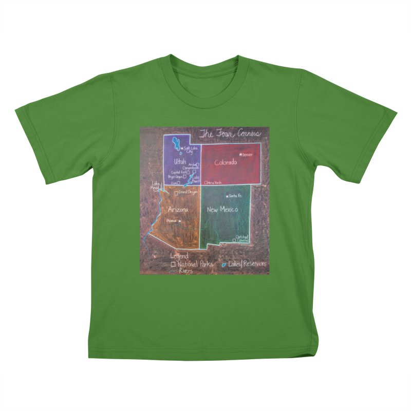 Four Corners Kids T-shirt by brusling's Artist Shop