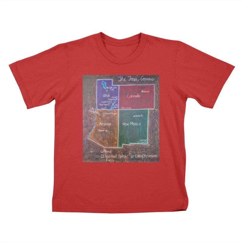 Four Corners Kids T-Shirt by brusling's Artist Shop