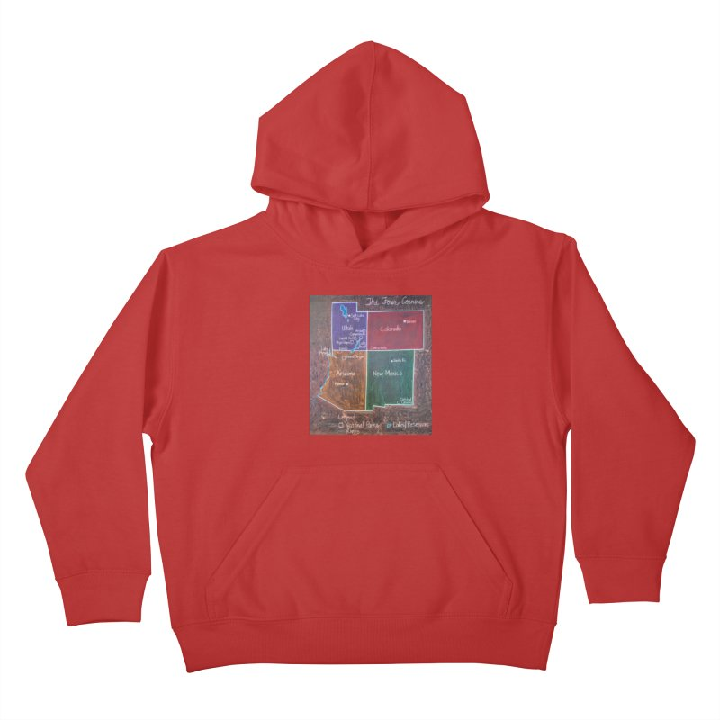 Four Corners Kids Pullover Hoody by brusling's Artist Shop