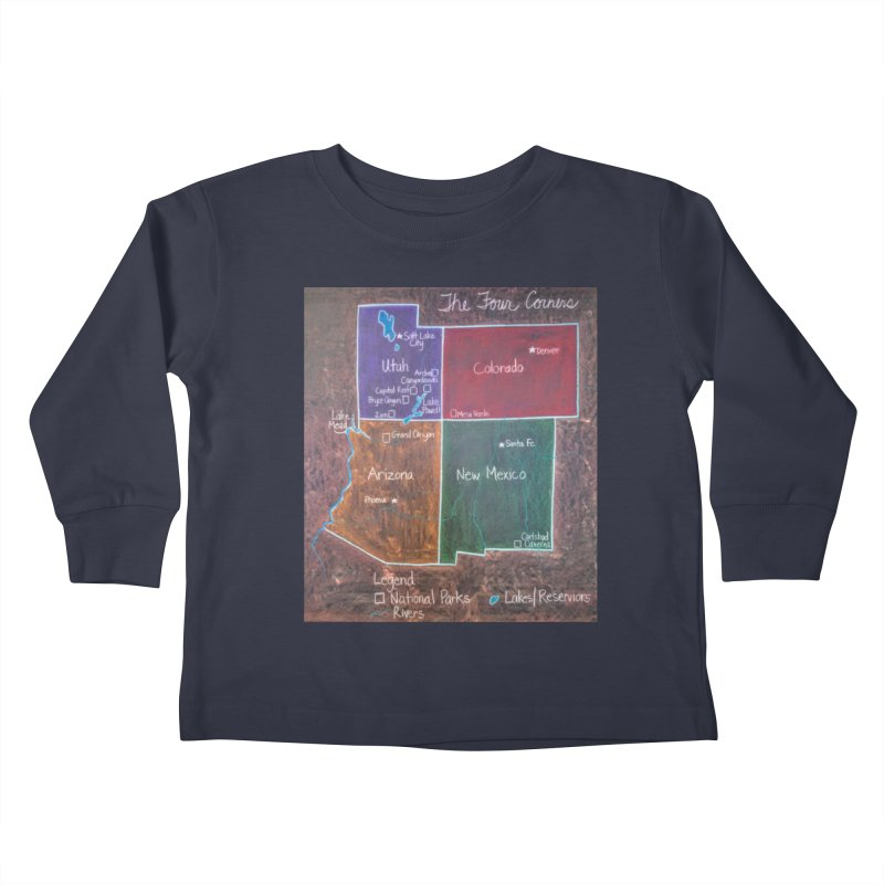 Four Corners Kids Toddler Longsleeve T-Shirt by brusling's Artist Shop