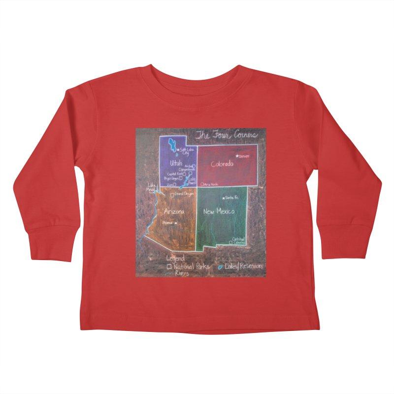 Four Corners Kids Toddler Longsleeve T-Shirt by brusling's Artist Shop