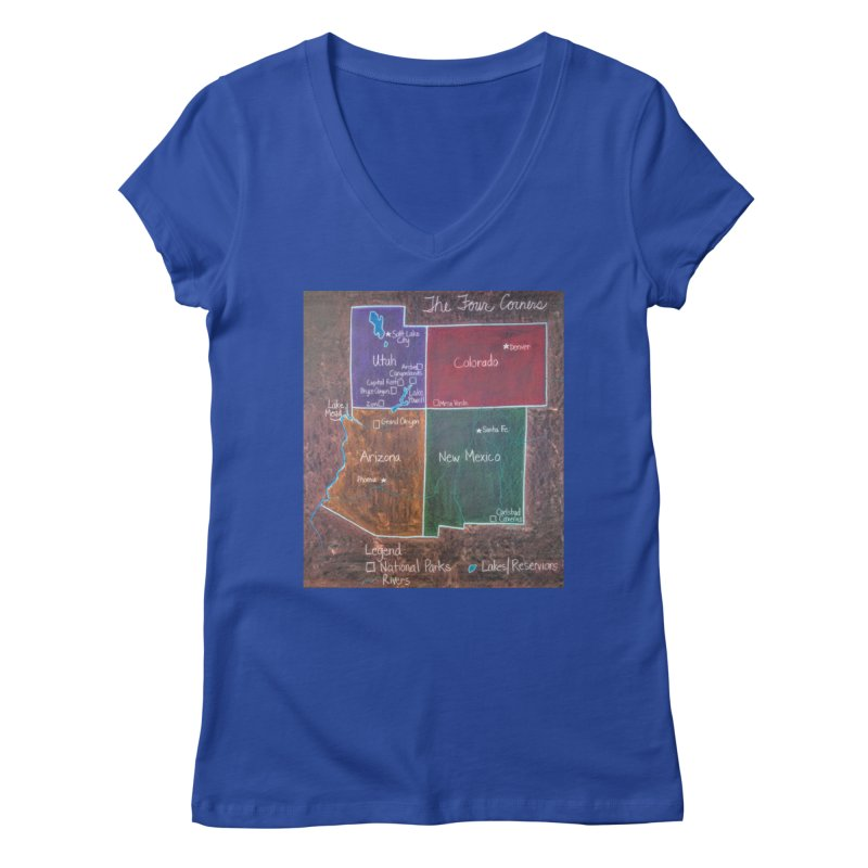 Four Corners Women's V-Neck by brusling's Artist Shop