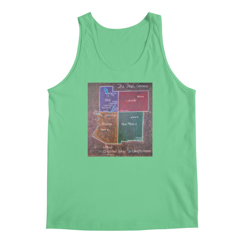 Four Corners Men's Tank by brusling's Artist Shop