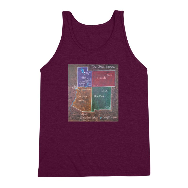 Four Corners Men's Triblend Tank by brusling's Artist Shop