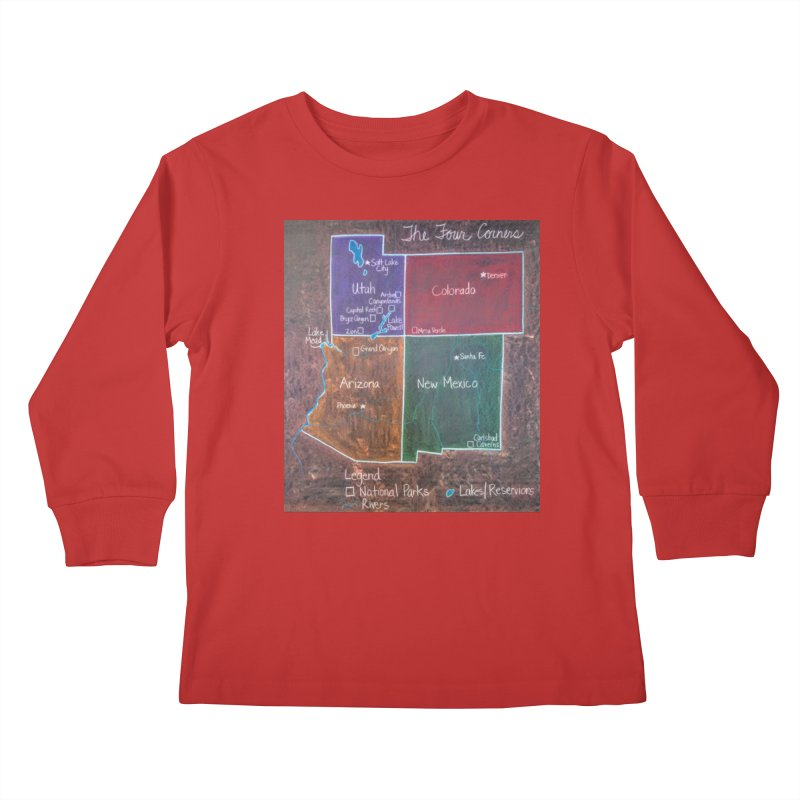 Four Corners Kids Longsleeve T-Shirt by brusling's Artist Shop