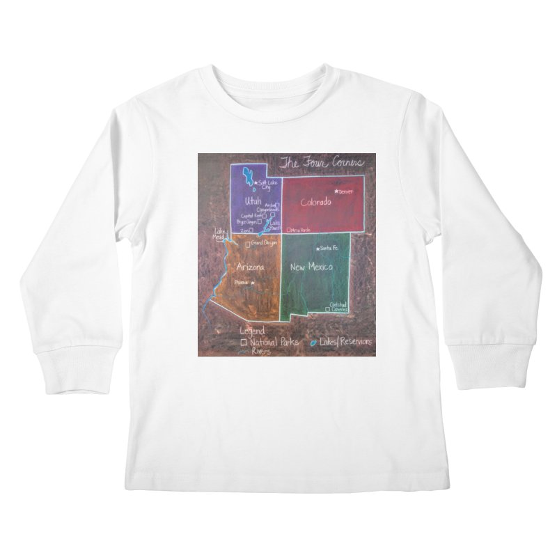 Four Corners Kids Longsleeve T-Shirt by brusling's Artist Shop