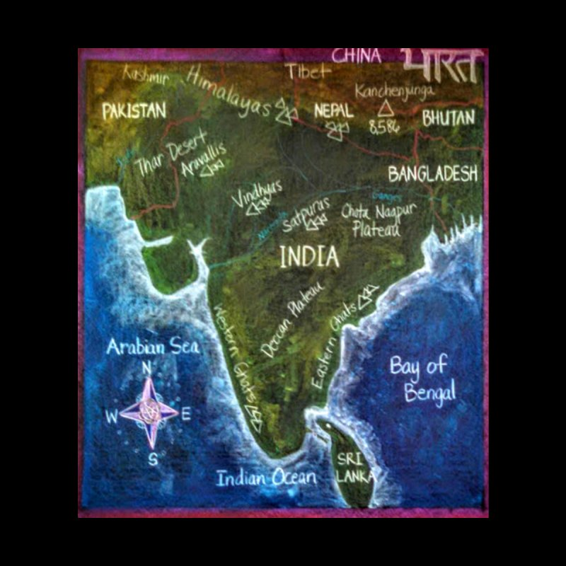 Map of Ancient India by brusling's Artist Shop