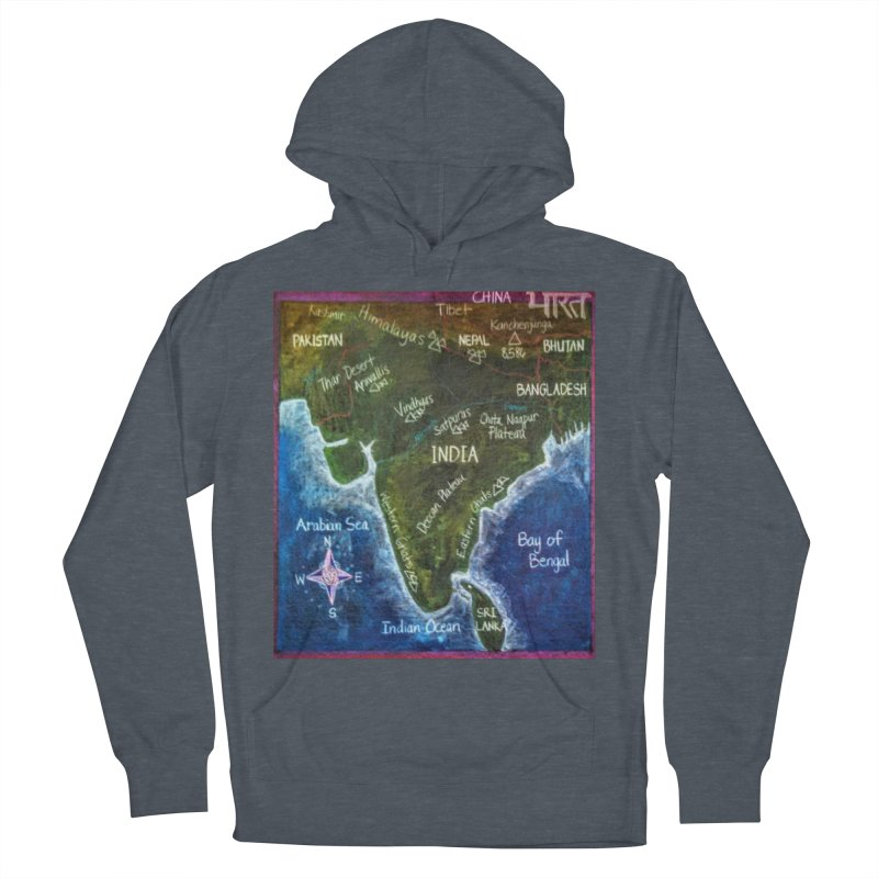 Map of Ancient India Women's Pullover Hoody by brusling's Artist Shop