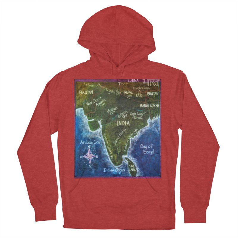 Map of Ancient India Men's Pullover Hoody by brusling's Artist Shop
