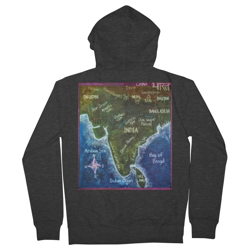 Map of Ancient India Women's Zip-Up Hoody by brusling's Artist Shop