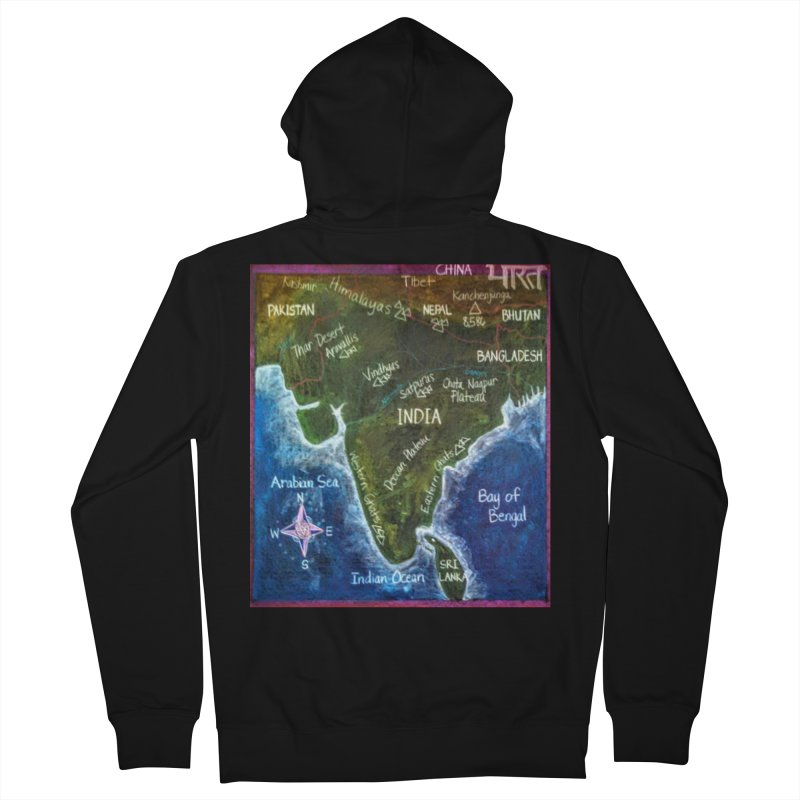 Map of Ancient India Men's Zip-Up Hoody by brusling's Artist Shop