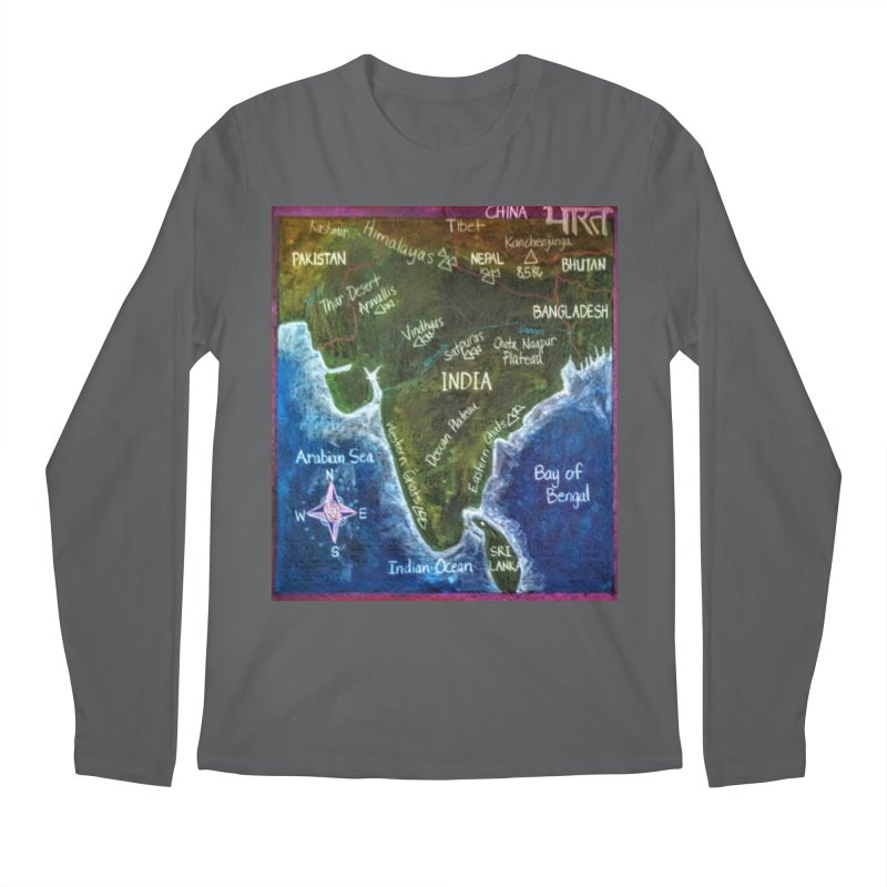 Map of Ancient India Men's Longsleeve T-Shirt by brusling's Artist Shop