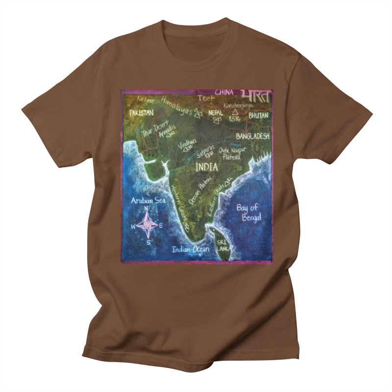 Map of Ancient India Men's T-Shirt by brusling's Artist Shop