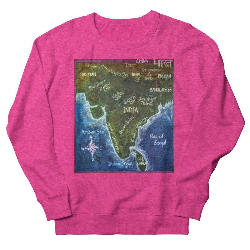 Map of Ancient India Women's Sweatshirt by brusling's Artist Shop