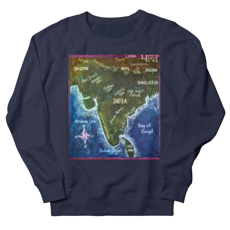 Map of Ancient India Men's Sweatshirt by brusling's Artist Shop