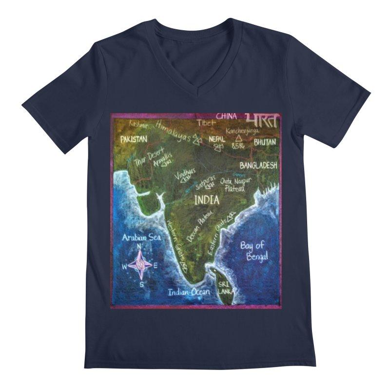 Map of Ancient India Men's V-Neck by brusling's Artist Shop