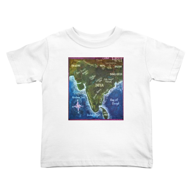 Map of Ancient India Kids Toddler T-Shirt by brusling's Artist Shop