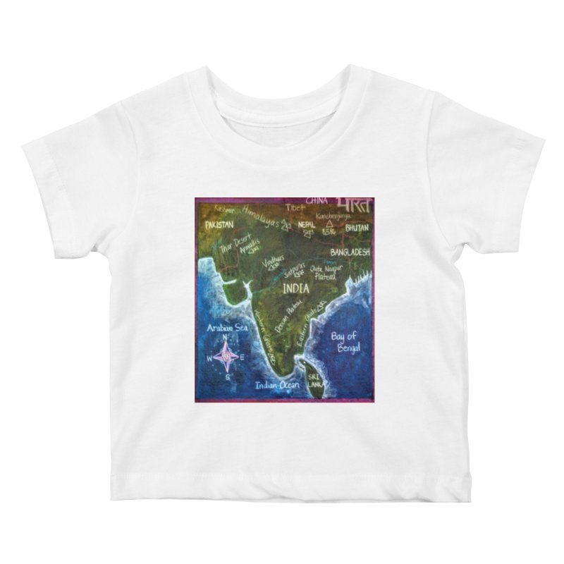 Map of Ancient India Kids Baby T-Shirt by brusling's Artist Shop
