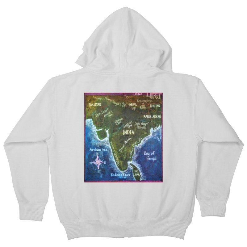 Map of Ancient India Kids Zip-Up Hoody by brusling's Artist Shop