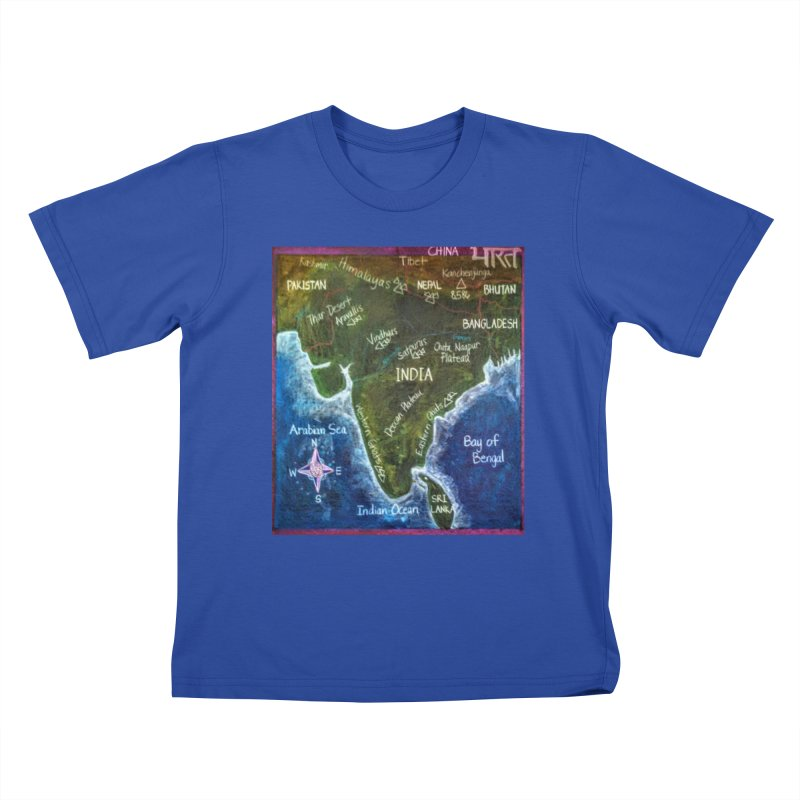 Map of Ancient India Kids T-shirt by brusling's Artist Shop