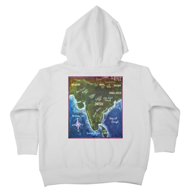 Map of Ancient India Kids Toddler Zip-Up Hoody by brusling's Artist Shop