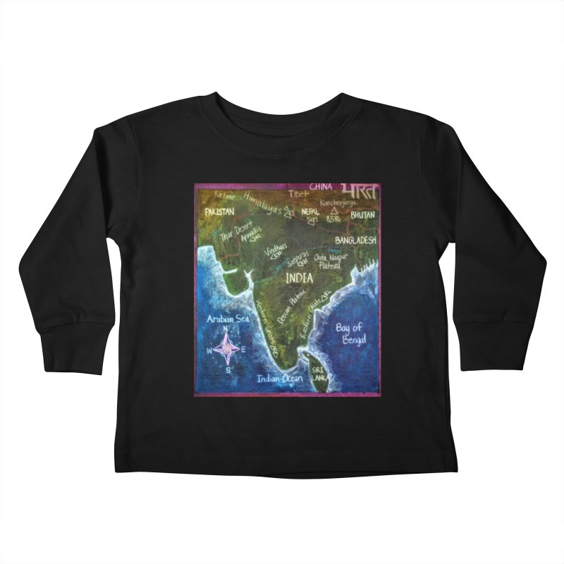 Map of Ancient India Kids Toddler Longsleeve T-Shirt by brusling's Artist Shop
