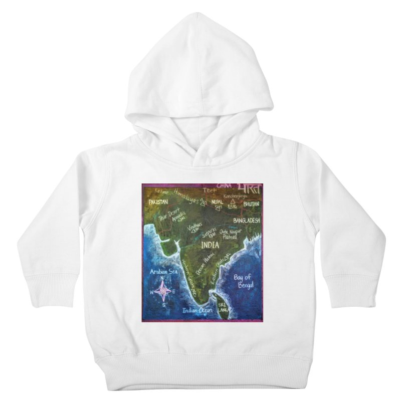 Map of Ancient India Kids Toddler Pullover Hoody by brusling's Artist Shop