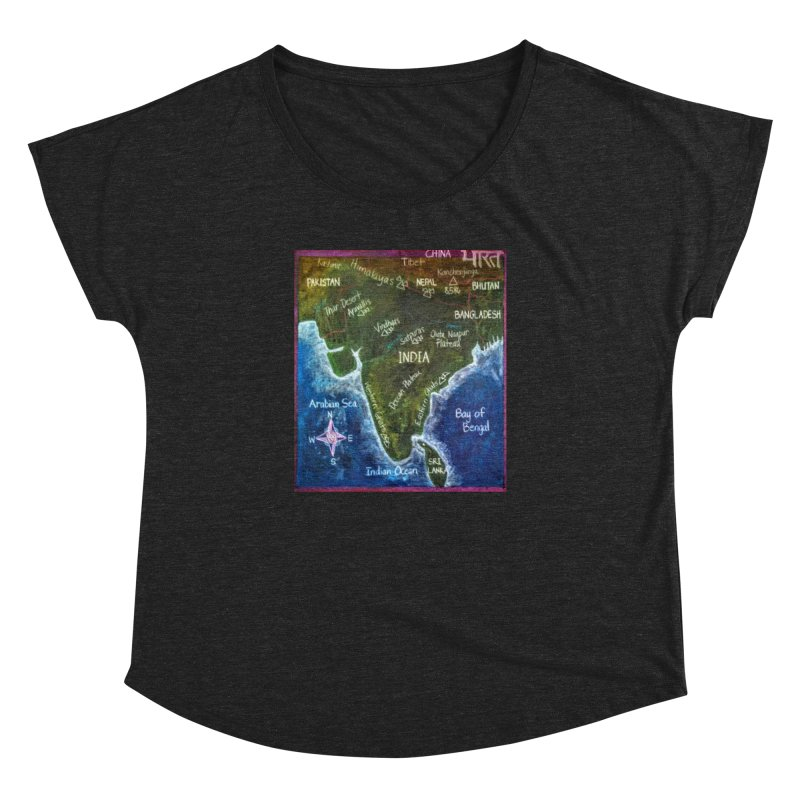 Map of Ancient India Women's Dolman by brusling's Artist Shop
