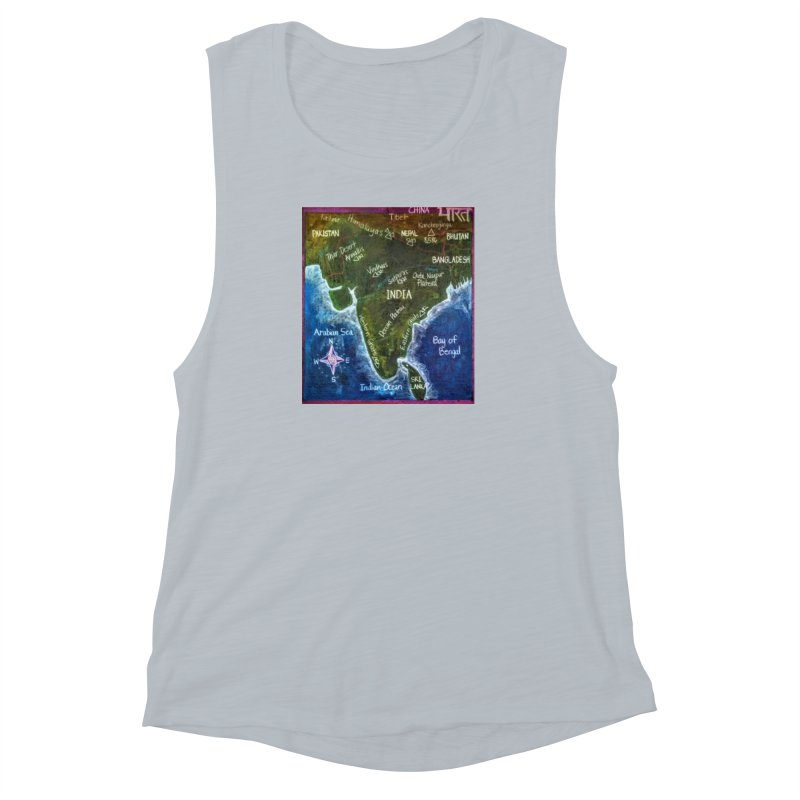 Map of Ancient India Women's Muscle Tank by brusling's Artist Shop