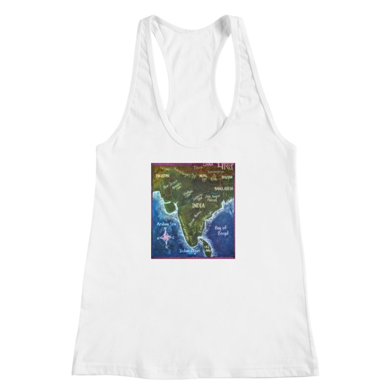 Map of Ancient India Women's Racerback Tank by brusling's Artist Shop
