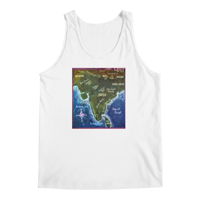 Map of Ancient India Men's Tank by brusling's Artist Shop