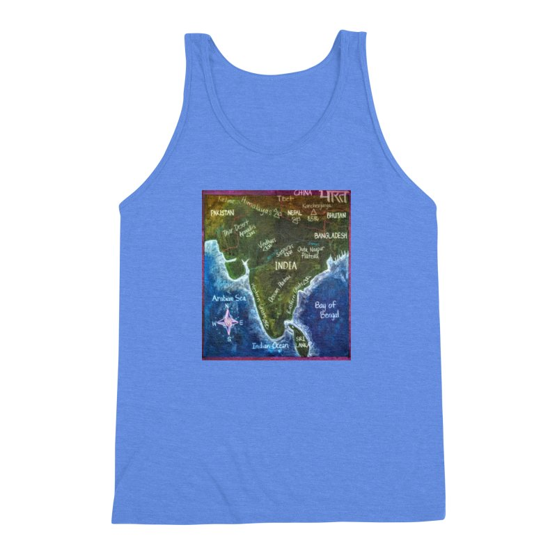 Map of Ancient India Men's Triblend Tank by brusling's Artist Shop