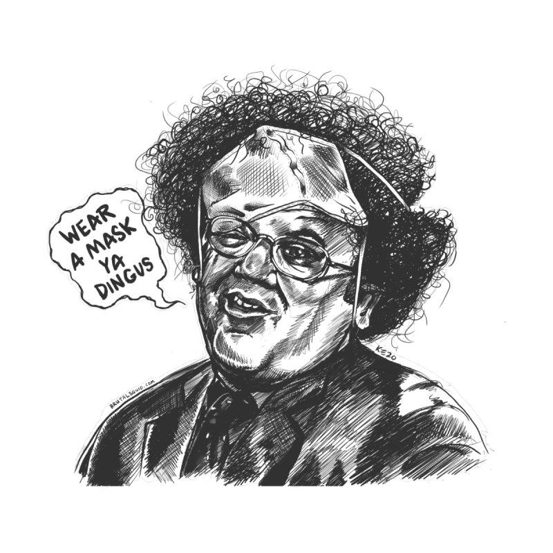 Wear A Mask Ya Dingus Men's T-Shirt by brutalsquid's Artist Shop
