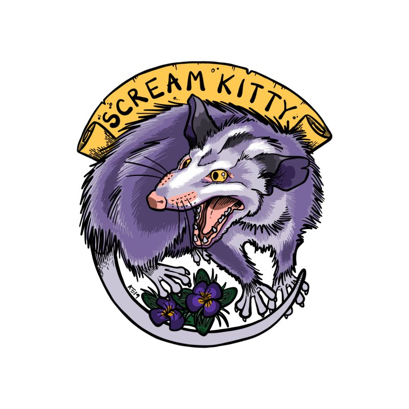 Scream Kitty Home Stretched Canvas by brutalsquid's Artist Shop
