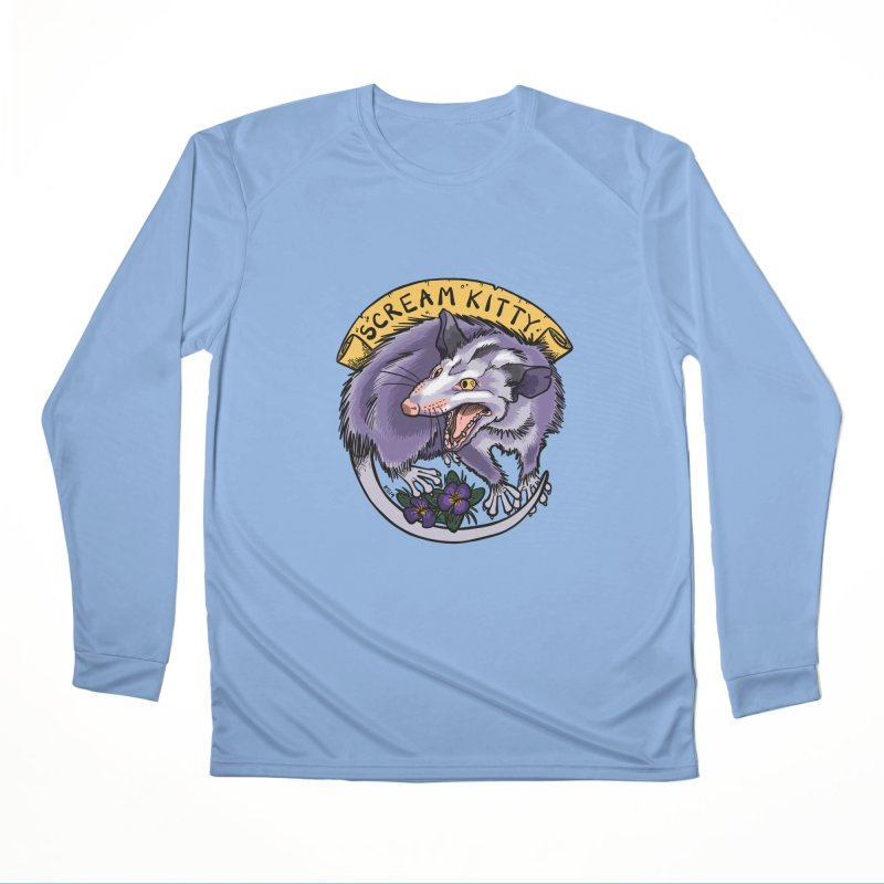 Scream Kitty Women's Longsleeve T-Shirt by brutalsquid's Artist Shop