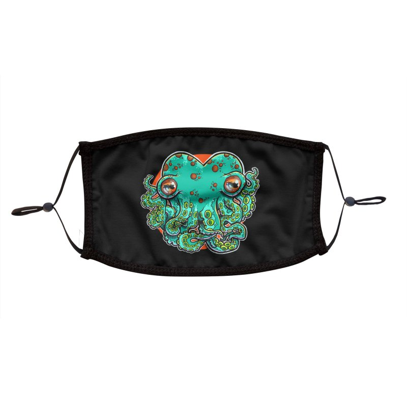 Cthulhu Heart Mask Accessories Face Mask by brutalsquid's Artist Shop