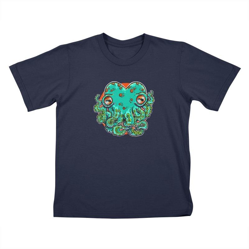 Cthulhu Heart Kids T-Shirt by brutalsquid's Artist Shop